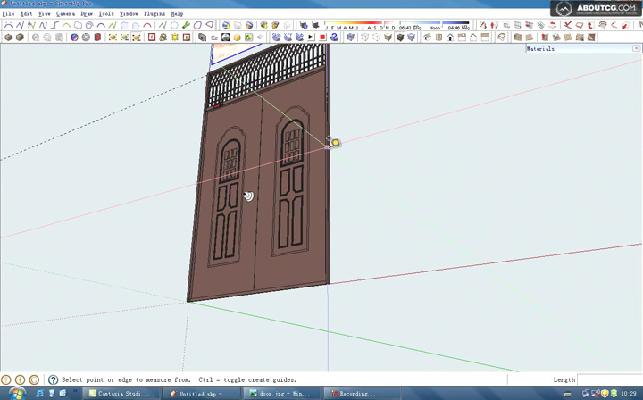 How_To_Use_Google_SketchUp_Model_A_Door_By_Kongbai_P1[(001312)22-38-22]