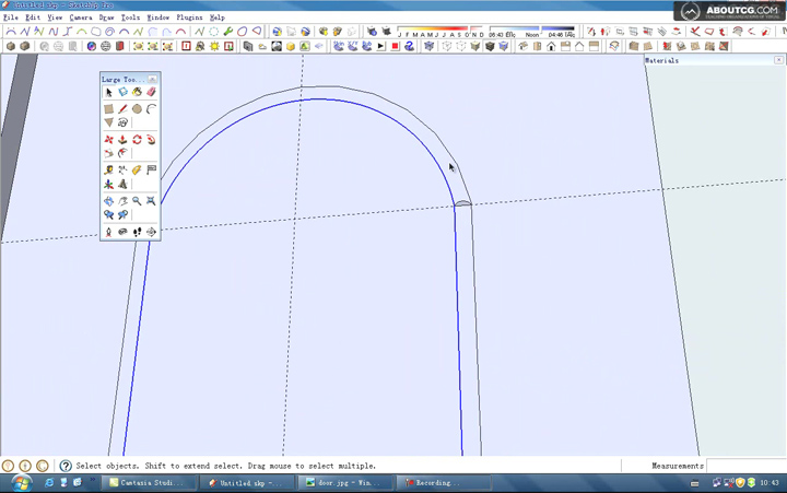 How_To_Use_Google_SketchUp_Model_A_Door_By_Kongbai_P1[(012655)22-38-32]