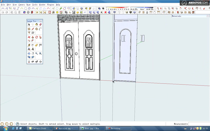 How_To_Use_Google_SketchUp_Model_A_Door_By_Kongbai_P1[(020914)22-38-38]