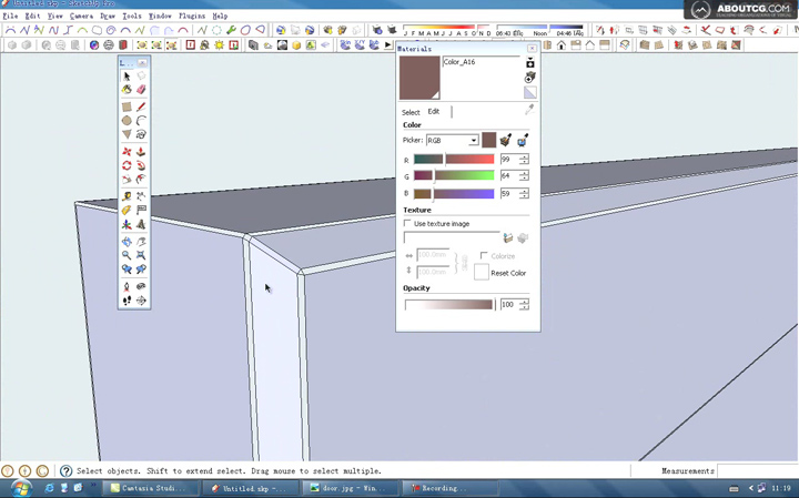 How_To_Use_Google_SketchUp_Model_A_Door_By_Kongbai_P2[(016826)10-42-22]